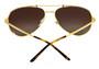 Cartier Santos 59mm Brushed Gold Metal BRN Lens Sunglasses ESW00132