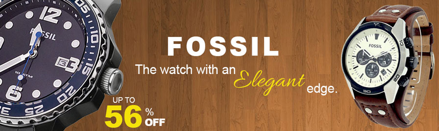 fossil watches discount banner