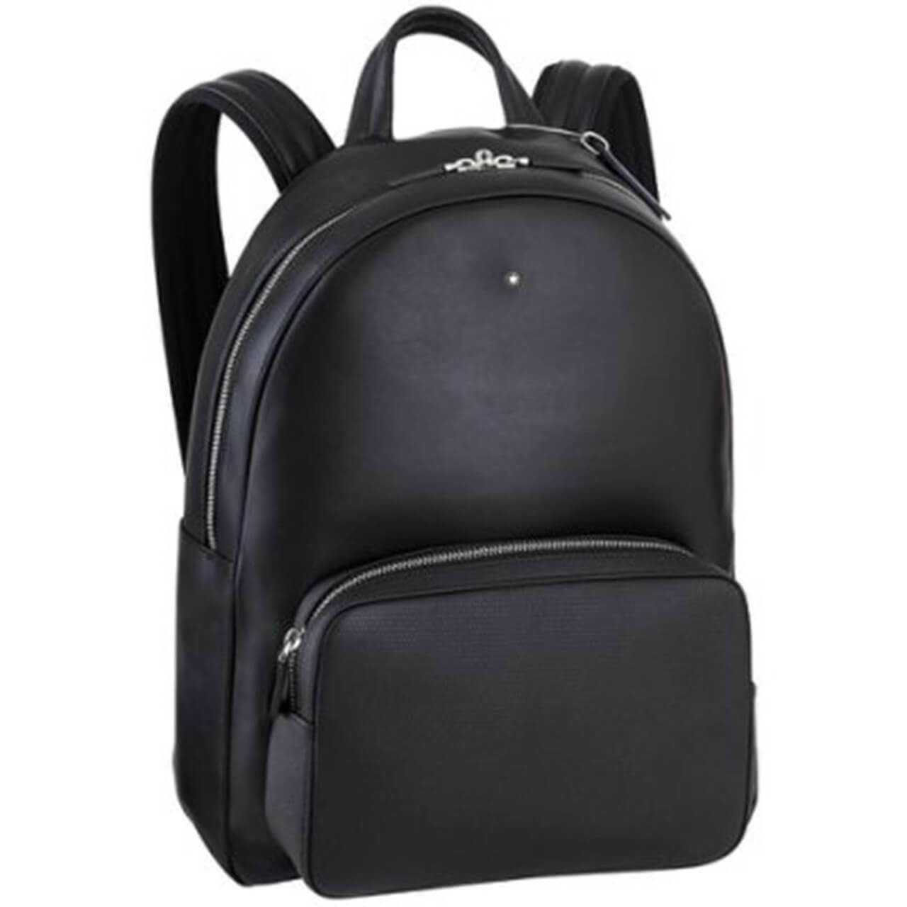 Montblanc meisterstuck citybag unicef black leather backpack