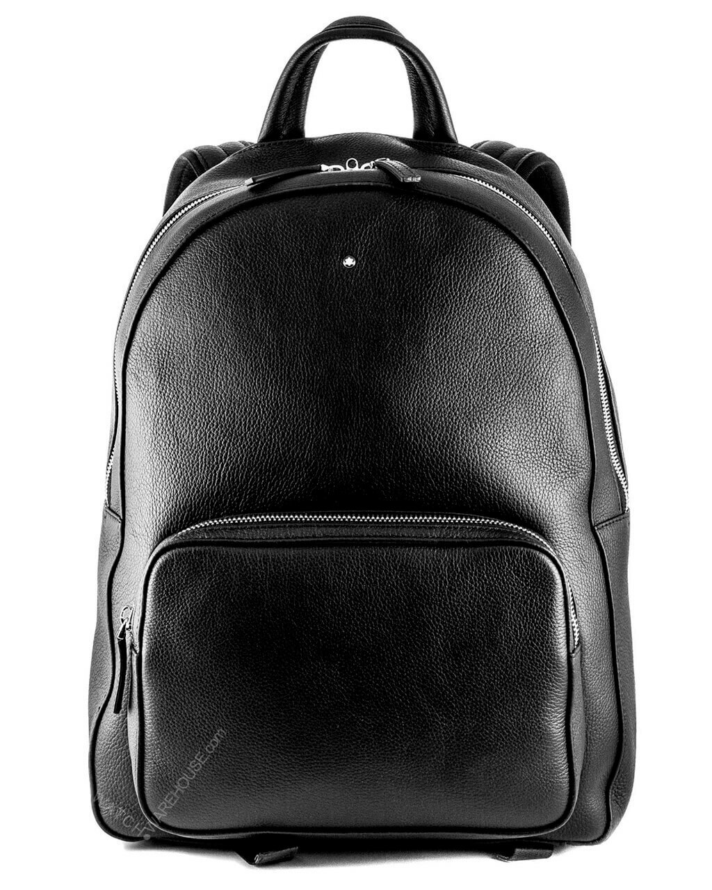 Montblanc meisterstuck large soft grain black leather backpack
