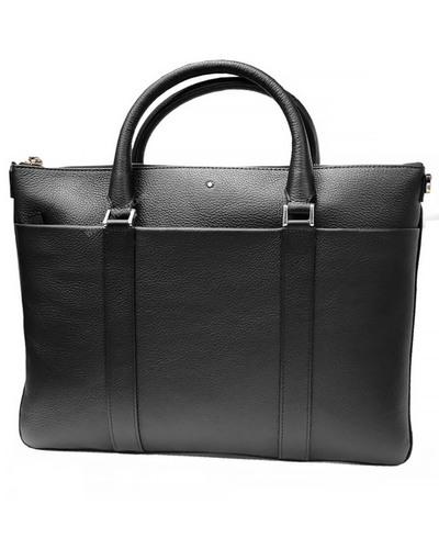 Montblanc meisterstuck soft grain black leather document case