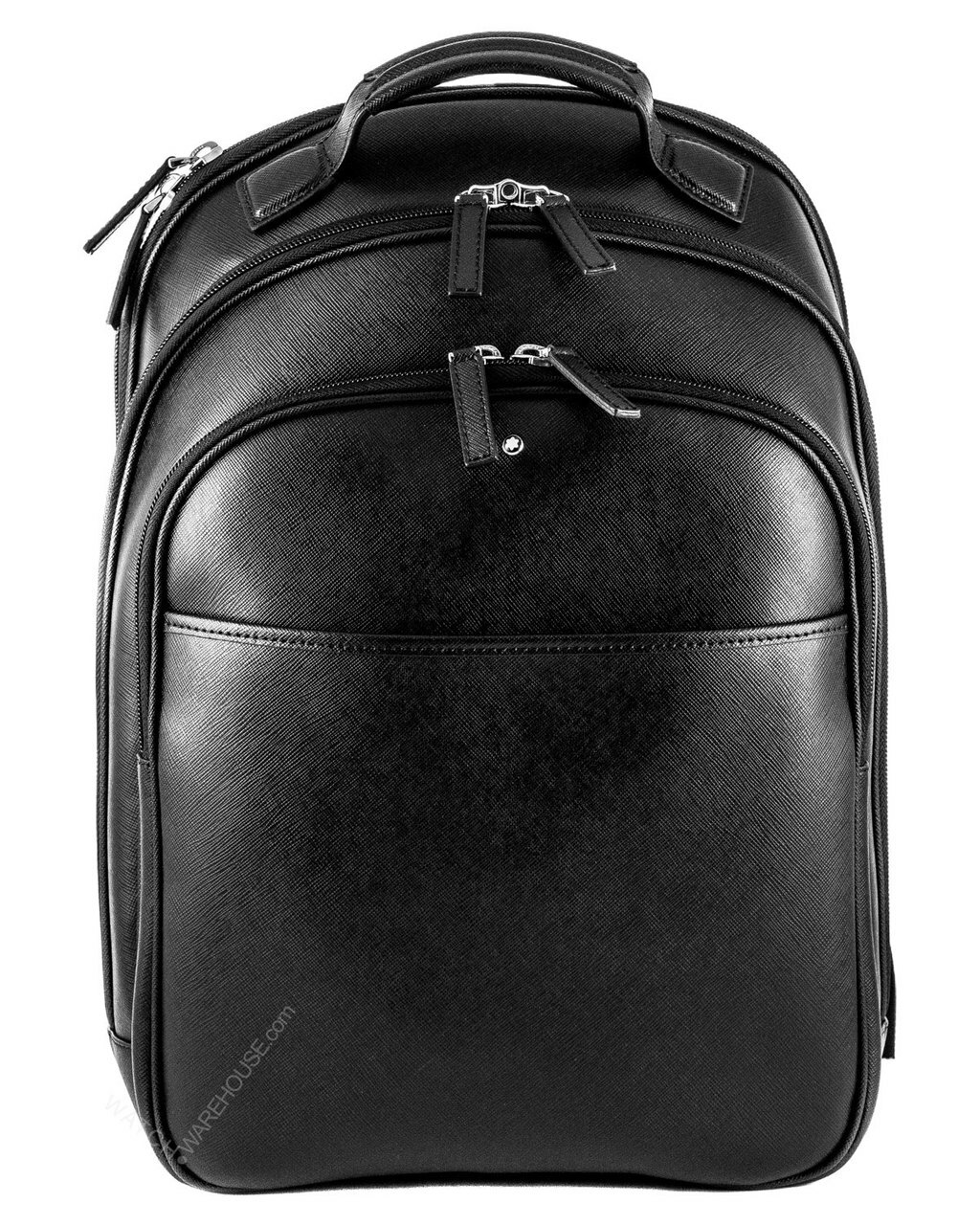Montblanc sartorial small black italian calfskin leather backpack