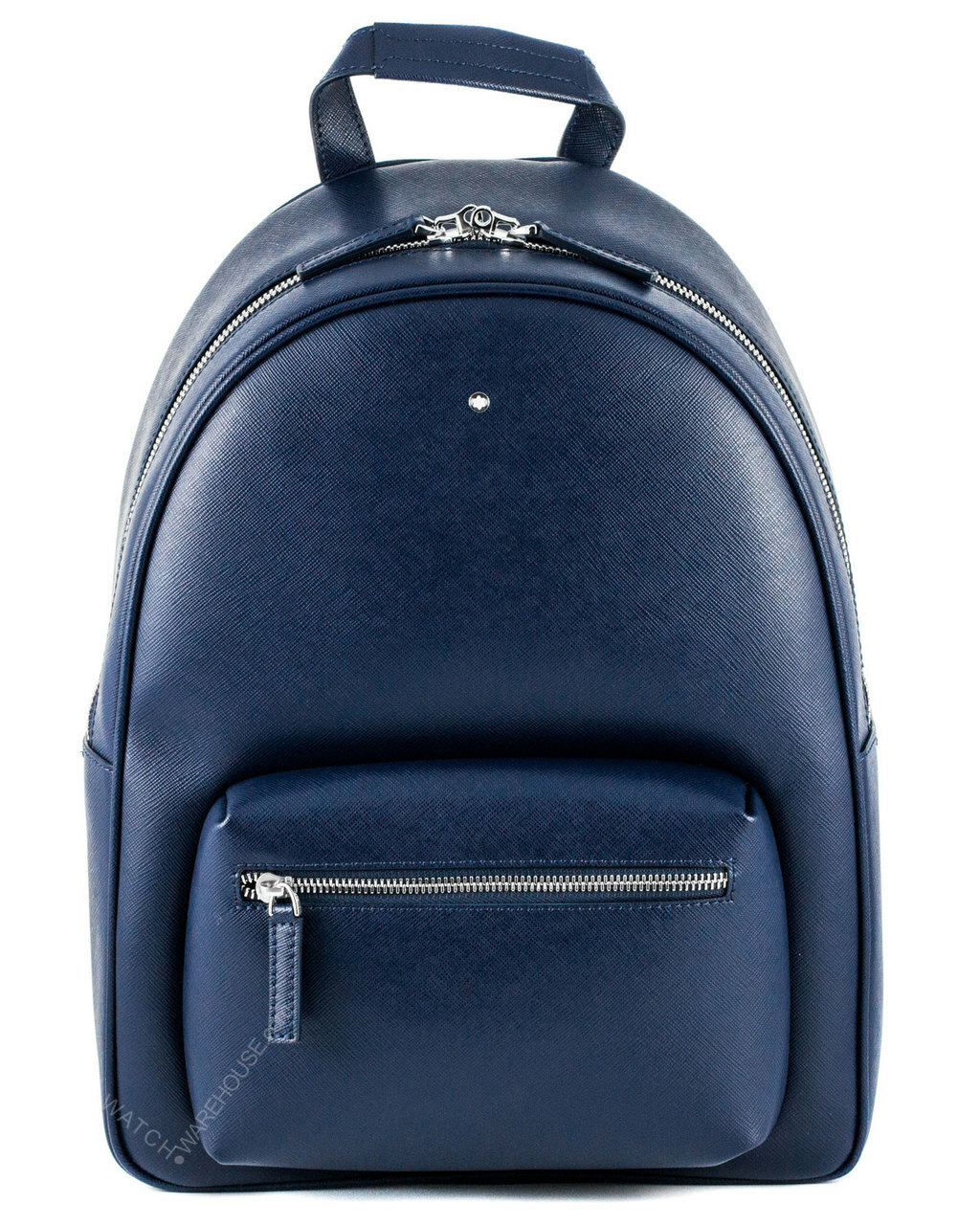 Montblanc sartorial small dome blue italian leather backpack