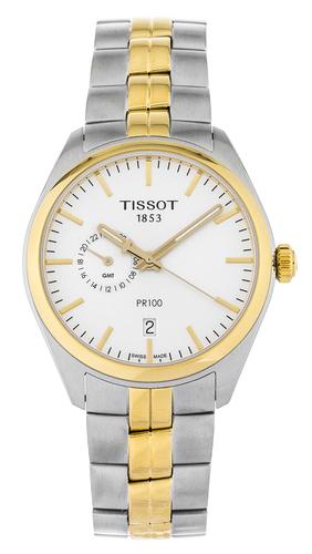 tissot pr 100 gent dualtime men's watch