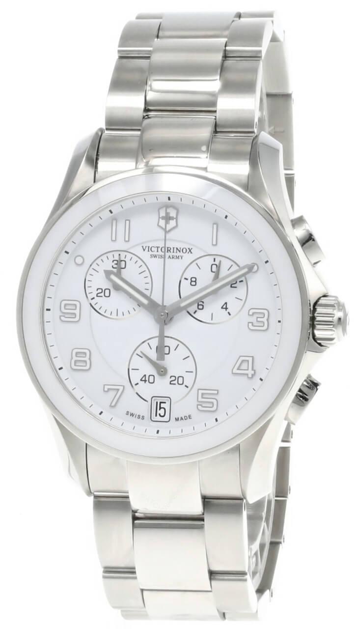 victorinox swiss army chrono classic white dial men's watch