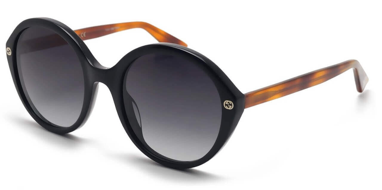 f31cd90bde Gucci Dark Round Tortoise Women s Sunglasses GG0023S 003 55-22-140