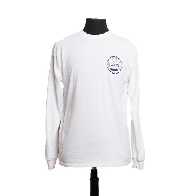 Classic Long Sleeve Logo T - White Mahi
