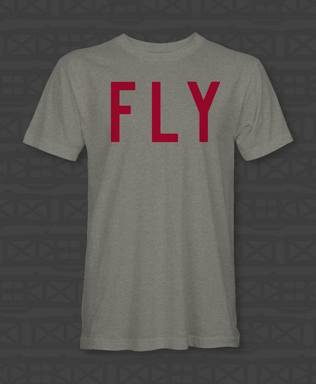 oversized 'FLY' tee