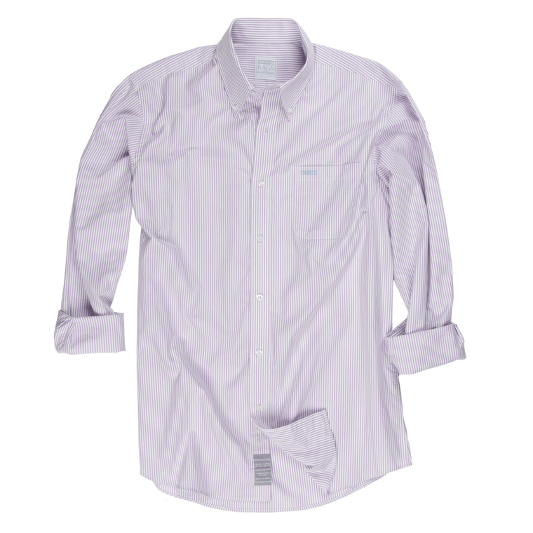 Proper Stripe Sport Shirt - Viola