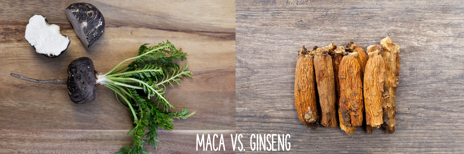 maca and ginseng side by side