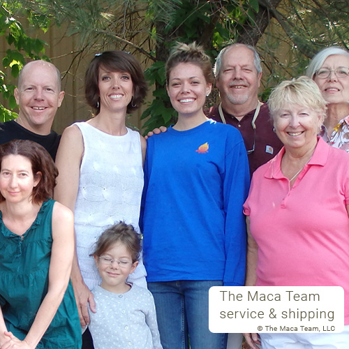 The Maca Team Service and Shipping