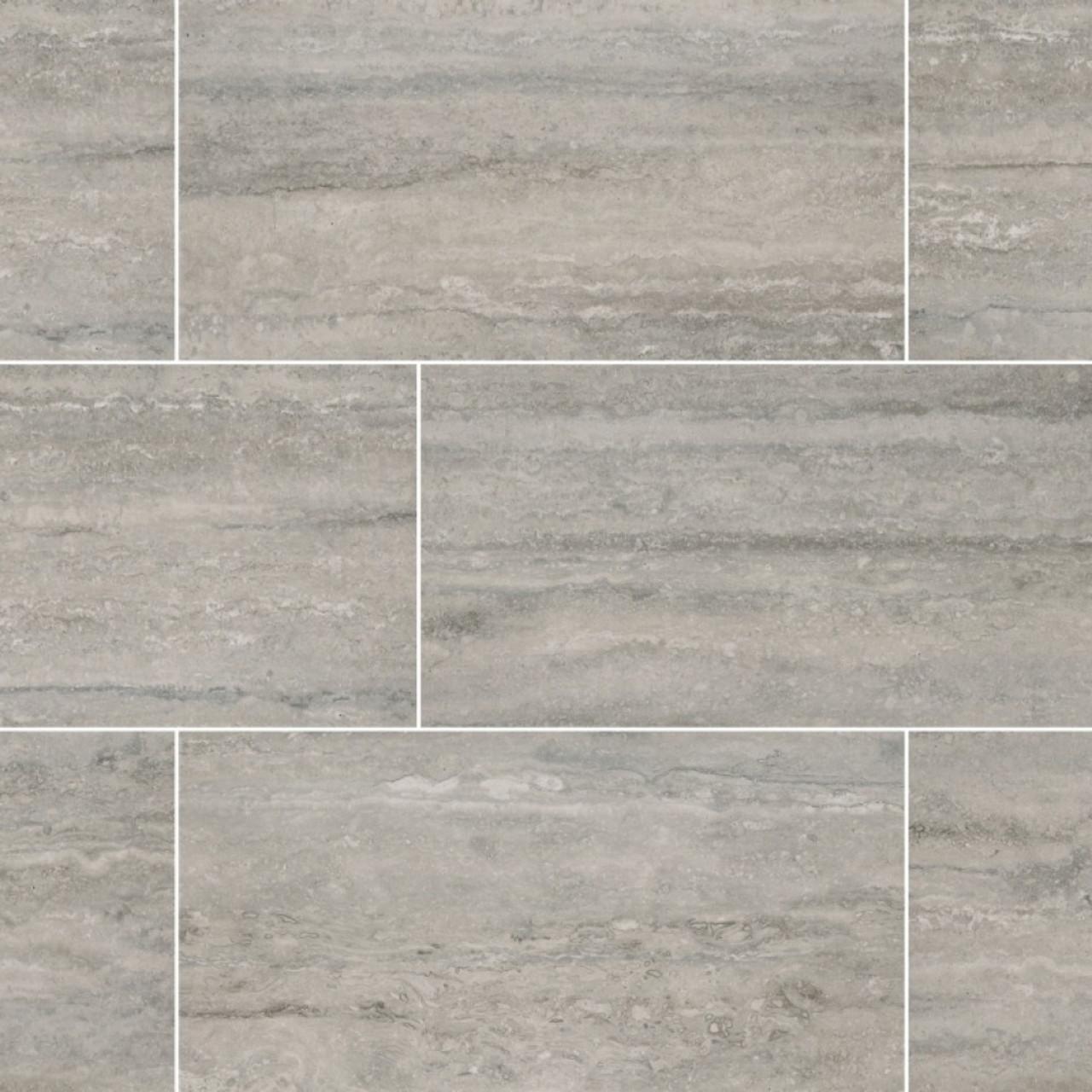 Ms International Veneto Series Gray 12x24 Matte Porcelain Tile Nvenegra1224 Mosaicmosaic Com