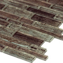 MS International Glass Tile Series: Antico Pewter Interlocking Pattern Glass Mosaic Tile SMOT-GLSIL-ANTPEW8MM