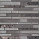 MS International Glass Tile Series: Zamora Interlocking Pattern 8mm Glass Tile SMOT-GLSIL-ZAMO8MM