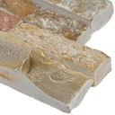 MS International Stacked Stone Series: Golden White 6x12x6 Split Face Corner Ledger Panel LPNLQGLDWHI618COR