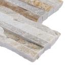 MS International Stacked Stone Series: New Golden Honey 6X12x6 Split face Corner Ledger Panel LPNLQNEWGLDHON618COR