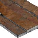 MS International Stacked Stone M-Series: Gold Rush 4.5x16 Split Face Mini Ledger Panel LPNLSGLDRUS4.516-MINI