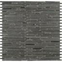 MS International 10mm Hatch Blue Bamboo Pattern Basalt Mosaic