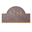 Arch Marker Standard Wall Two Line Address Plaque