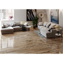 MS International Dellano Series: Deep Bark 8x48 Polished Wood Look Porcelain Tile NDELDEEBAR8X48P