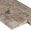MS International Stacked Stone M-Series: Silver Travertine 4.5x16 Split Face Mini Ledger Panel LPNLTSIL4.516-MINI
