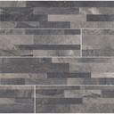 MS International Stacked Stone Series: Ardesia Black 6X24 Matte Porcelain Ledger Panel NARDBLK6X24