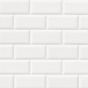 MS International Backsplash Series: Bright White Glossy 2x4 Bevel Ceramic Subway Tile SMOT-PT-BRIWHT-2X4B