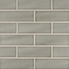 MS International Backsplash Series: Dove Gray Handcrafted 4x12 Glossy Subway Tile SMOT-PT-DG412