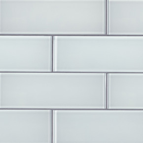 MS International Backsplash Series: Ice Glass 3x9 Backsplash Subway Tile SMOT-GL-T-IC39