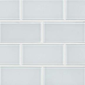 MS International Backsplash Series: Ice White 3X6 Glass Subway Tile SMOT-GL-T-IC36