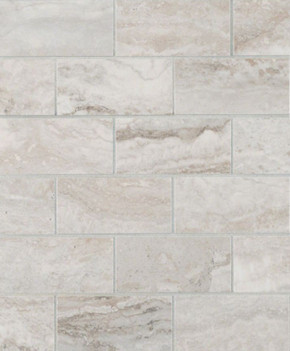 MS International Backsplash Series: Pietra Bernini Camo 2X4 Polished Mosaic Subway Tile NPIEBERCAM2X4P