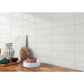 MS International Backsplash Series: Urbano Pure 3D Mix 4x12 Glossy Ceramic Subway Tile NURBPURMIX4X12
