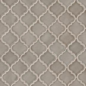 MS International Specialty Shapes Wall Series: Dove Gray Arabesque Ceramic 8mm Tile SMOT-PT-DG-ARABESQ