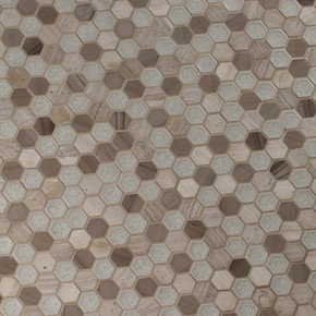 MS International Specialty Shapes Wall Series: Hexham Blend Hexagon 12X12 Misc Tile SMOT-SGLSGG-HEXHAM8MM