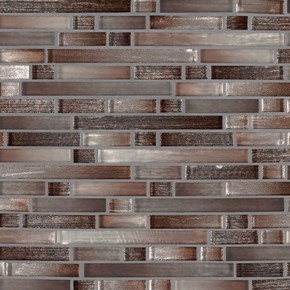 MS International Glass Tile Series: Akaya Copper Interlocking 8mm Glass Tile