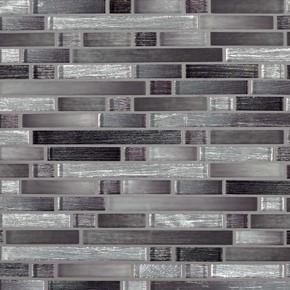 MS International Glass Tile Series: Akaya Nero Interlocking 8mm Glass Tile SMOT-GLSIL-AKANER8MM