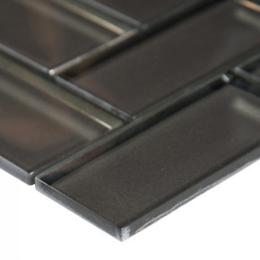 MS International Glass Tile Series: Champagne Bevel Herringbone Mosaic Tile SMOT-GLS-CHBEHB8MM