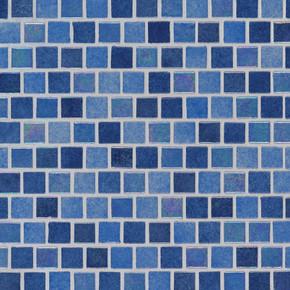 MS International Glass Tile Series: Hawaiian Sky 1X1 Staggered Glass Pool Tile SMOT-GLSB-HAWSKY4MM