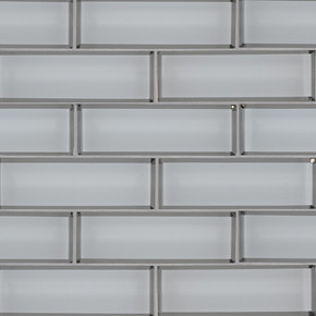 MS International Glass Tile Series: Ice Bevel Subway 2X6X8 Glass Mosaic Tile SMOT-GLSST-ICEBE8MM