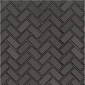 MS International Glass Tile Series: Metallic Gray 2x4x8 Herringbone Mosaic TIle SMOT-GLS-MEGRBEHB8MM