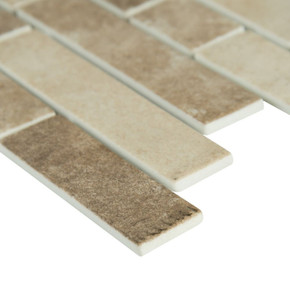 MS International Glass Tile Series: Sandhills Interlocking Pattern Recycled Glass Mosaic Tile SMOT-GLSIL-SAND6MM
