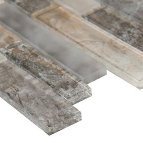 MS International Glass Tile Series: Savoy Interlocking Pattern Inkjet Glass Mosaic Tile SMOT-GLSIL-SAVOY8MM