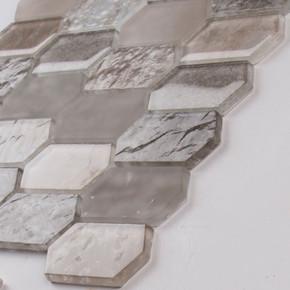 MS International Glass Tile Series: Savoy Picket Pattern Inkjet Glass Mosaic Tile SMOT-GLSPK-SAVOY8MM
