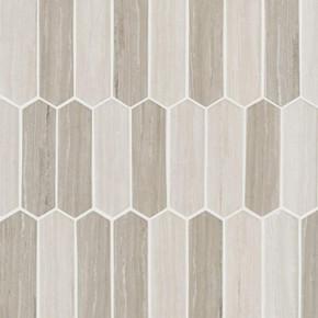 MS International Glass Tile Series: Silva Oak Picket 6mm Recycled Glass Mosaic Tile SMOT-GLSPK-SILVA6MM