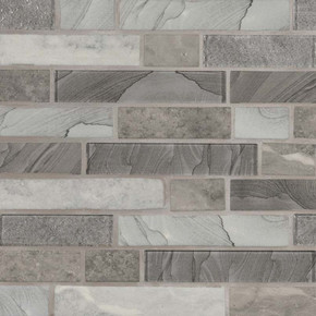 MS International Glass Tile Series: Tarvos Celano Interlocking Pattern Recycled Glass Mosaic Tile SMOT-GLSIL-TARVOS6MM