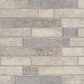 MS International Glass Tile Series: Zodia Interlocking Pattern Recycled Glass Mosaic Tile SMOT-GLSIL-ZODIA6MM