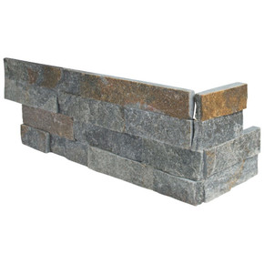 MS International Stacked Stone Series: Amber Falls 6x12x6 Split Face Corner Ledger Panel LPNLQAMBFAL618COR