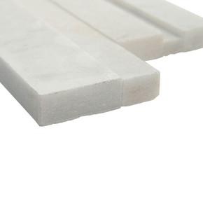 MS International Stacked Stone Series: Arctic White 6x12x6 3D Honed Corner Ledger Panel LPNLMARCWHI618COR-3DH