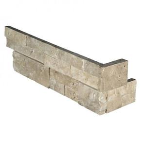 MS International Stacked Stone Series: Durango Cream 6X12X6 Split Face Corner Ledger Panel LPNLTDURCRE618COR