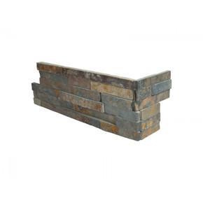 MS International Stacked Stone Series: Gold Rush 6X12X6 Split Face Corner Ledger Panel LPNLSGLDRUS618COR
